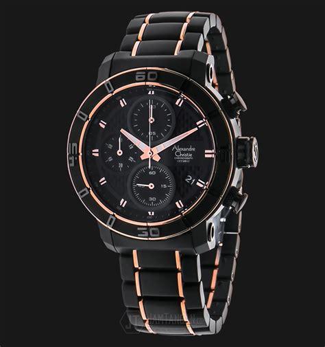 Alexandre Christie Ac 6455 Mc Bbrba Chronograph Black alexandre christie ac 6292 mc bbrba chronograph black ceramic jamtangan