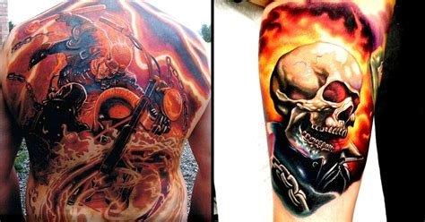 ghost rider tattoo 8 blazing ghost rider tattoos tattoodo
