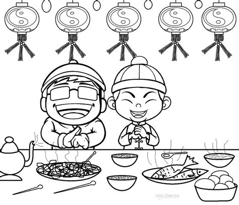 preschool coloring pages chinese new year printable chinese new year coloring pages for kids