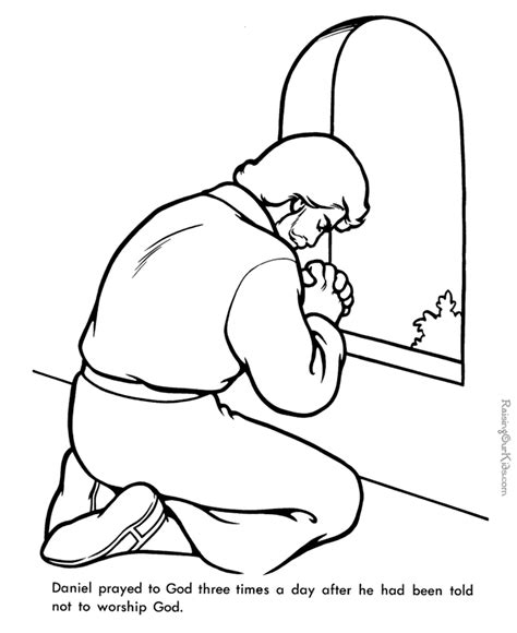 Daniel Praying Coloring Pages free christian coloring pages for children and