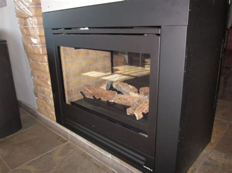 gas insert for fireplace sided fireplaces