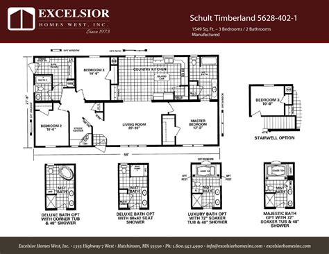 schult timberland 5628 53 excelsior homes west inc schult timberland 5628 402 1 excelsior homes west inc