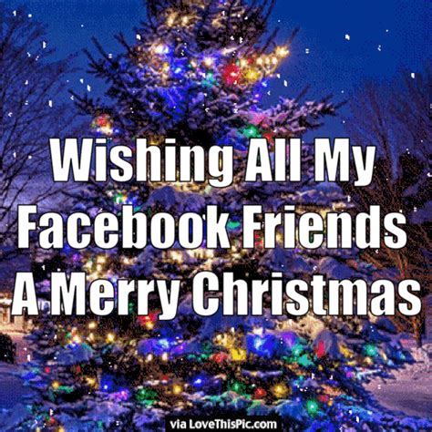 wishing   facebook friends  merry christmas pictures   images  facebook