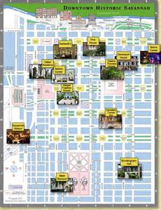 savanah map maps update 853631 tourist map of ga