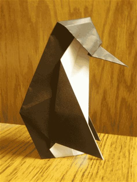 Origami Penguin Folding - origami penguin folding how to make origami