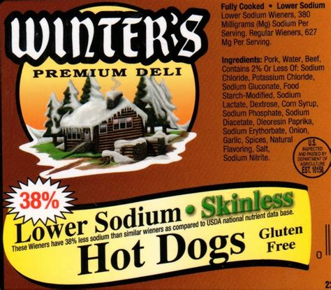 low sodium dogs lower sodium skinless winter sausage