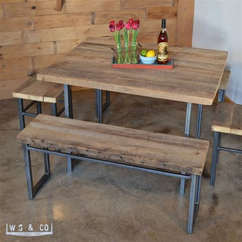 wood bench metal legs bench 48 quot reclaimed wood metal legs aftcra
