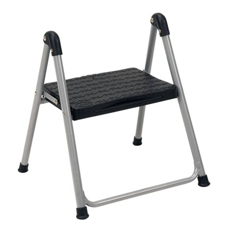 Industrial Folding Step Stool by Cosco 1 Step Steel Step Ladder Stool Without Handle