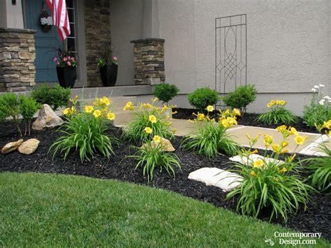 gorgeous black mulch landscaping ideas