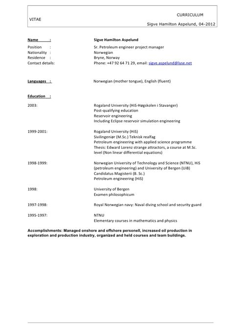 Cv Consulting Hamilton Cv Sigve Hamilton Aspelund 042012