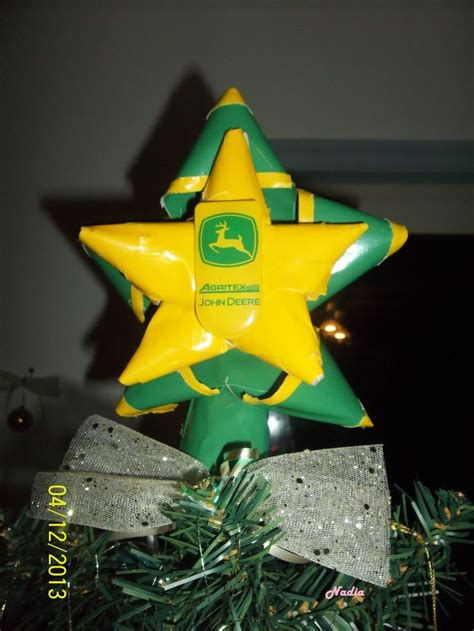 john deere tree topper star bows 100 duct tape made by me