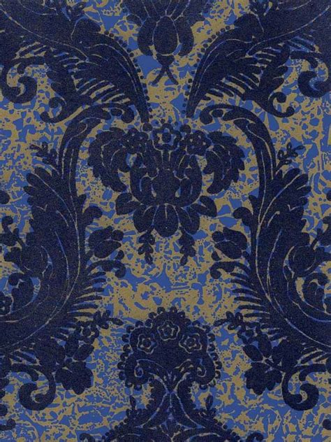 gold victorian wallpaper victorian flocked velvet wallpaper blue on gold blue