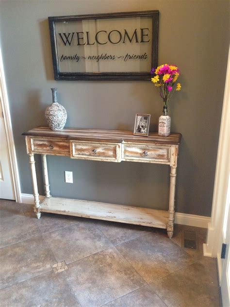 rustic foyer table entrance table decor entry table
