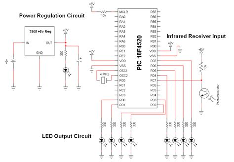 Wifi Receiver Circuit Diagram Circuit And Schematics Diagram Projectpiles Wireless Infra Communication Link Project Your Project Resource