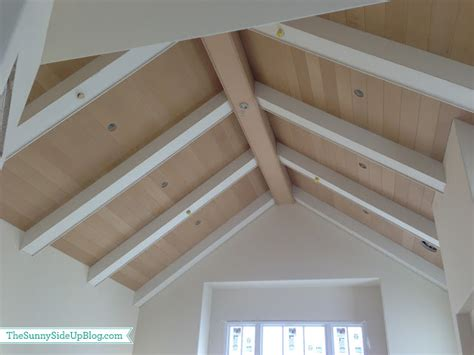 Tongue And Groove Ceiling Planks by House Update The Side Up