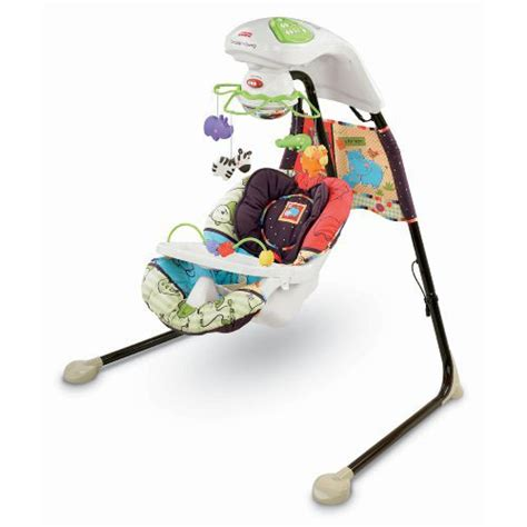 fisher price animal swing luv u zoo cradle swing from fisher price with a plug in