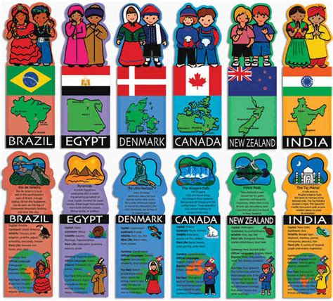 cultural themes exles kids around the world flashcards package of 28 zin 412644