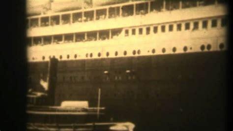 titanic film views titanic 1912 original film footage very very rare film