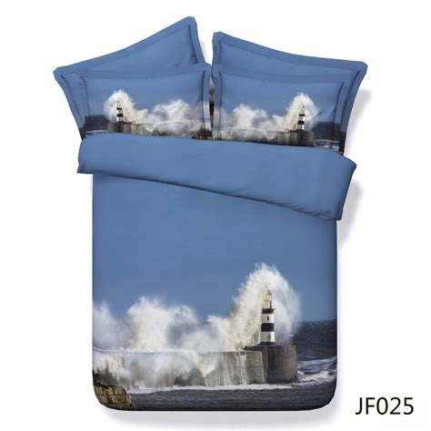 Lighthouse Comforters by 3d Bedding Set The Beautiful Lighthouse Cotton Duvet Cover