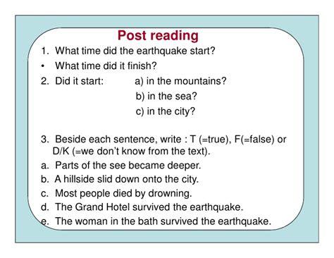 earthquake quiz true or false reading activity corregido modo de compatibilidad