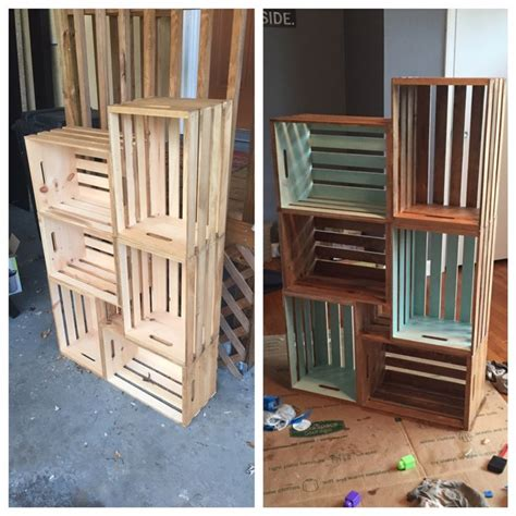 wooden crate shelves 1000 ideas about crate shelves on crates