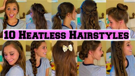 heatless hairstyles for picture day 10 back to school heatless hairstyles youtube