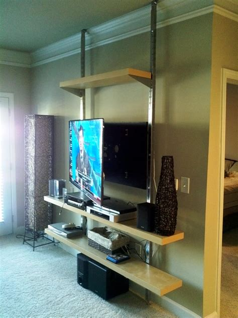 Ikea Cubby Bench how to create a floor to ceiling tv entertainment center