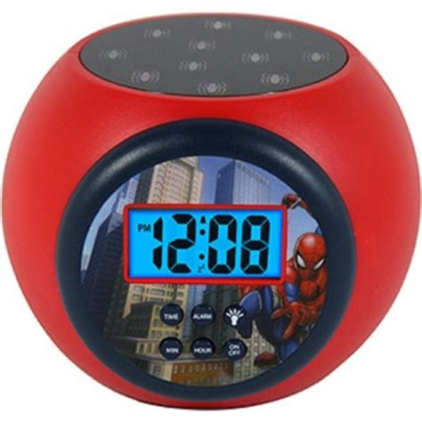 marvel spider lcd projecting alarm clock target