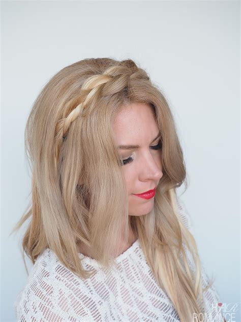 braid headband hairstyles tutorial braided headband hairstyle tutorial hair romance