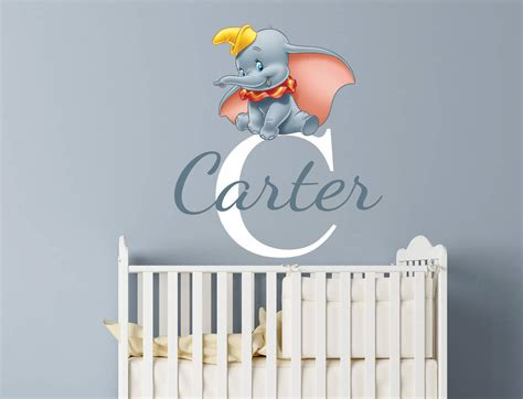 Dumbo Wall Stickers personalised dumbo name wall decal sticker