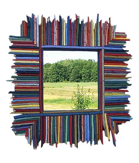 colorful mirrors colorful stick frame square mirror