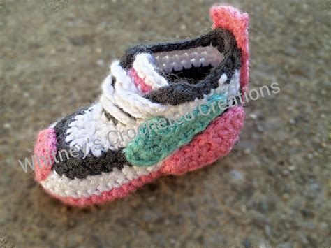 pattern crochet nike booties crochet nike inspired tennis shoes by whitneyyoung craftsy