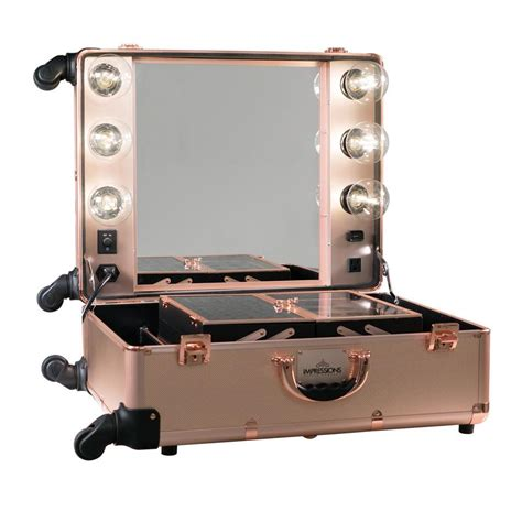 travel vanity case with lights impressions vanity slaycase pro vanity travel train case