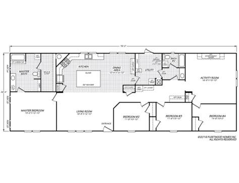 1997 fleetwood mobile home floor plan 1997 fleetwood