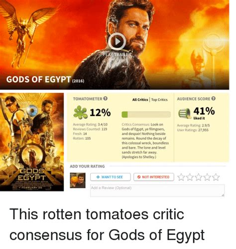 along with the gods rotten tomatoes trai gods of egypt 2016 tomato meter all critics top