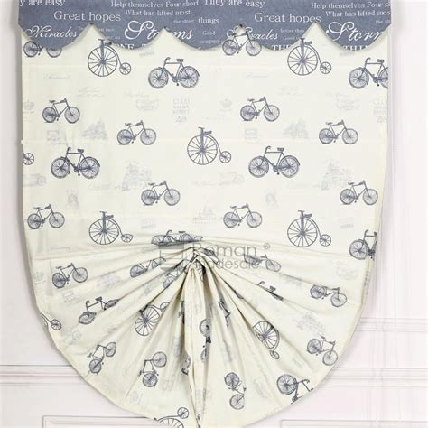patterned fabric roman shades beige bike patterned funky fabric roman shade curtains