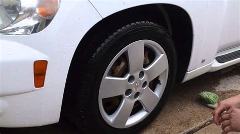 tire wheel hubcap cleaning  dressing youtube
