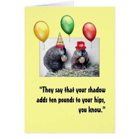 groundhog day birthday groundhog day birthday card zazzle