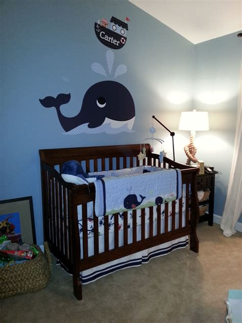 Nautical Themed Nursery Decor Nautical Baby Room Inspired By Giuliana Rancic S I Duke Rancic S Room With Whale Detail