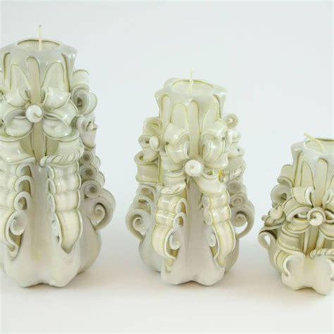 candele intagliate candela intagliata nastro bianco con bordo scuro candele