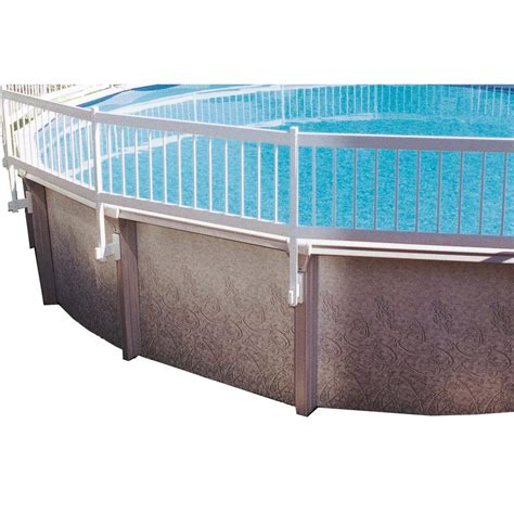 fence sections home depot gli pool products above ground pool fence kit 8 section