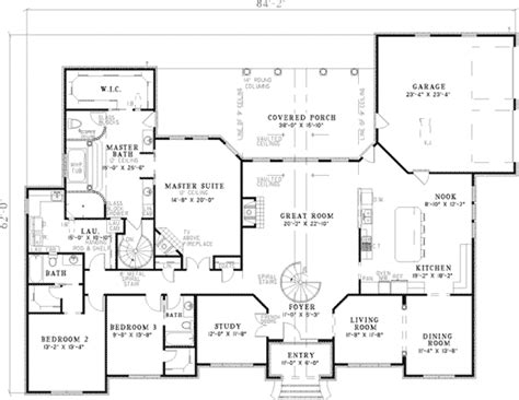 floor plans for large homes leroux brick ranch home plan 055s 0046 house plans and more
