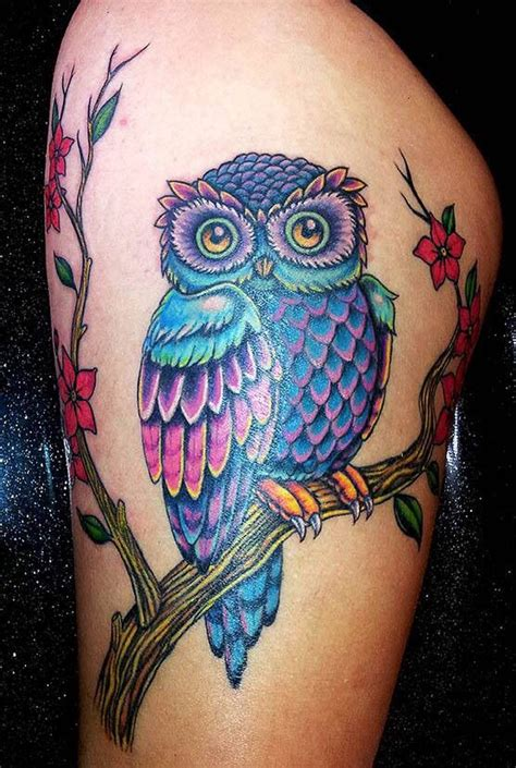 colorful owl tattoos best 25 colorful owl ideas on cool drawings