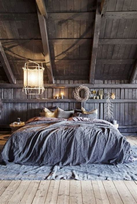 rustic attic bedroom picture of gorgeous and moody attic bedroom decorated with