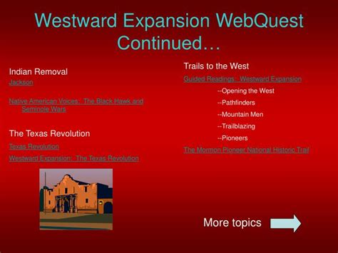 Westward Expansion Essay Topics by Ppt Westward Expansion Webquest Powerpoint Presentation Id 5437412
