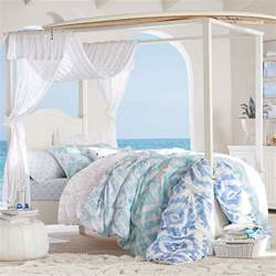 Canopy Bed With Trundle by Beadboard Canopy Bed Trundle Pbteen
