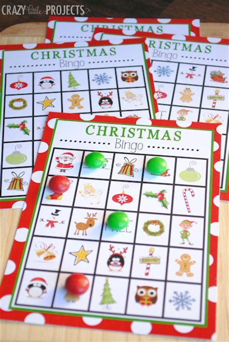 printable holiday bingo games 30 awesome christmas games for kids