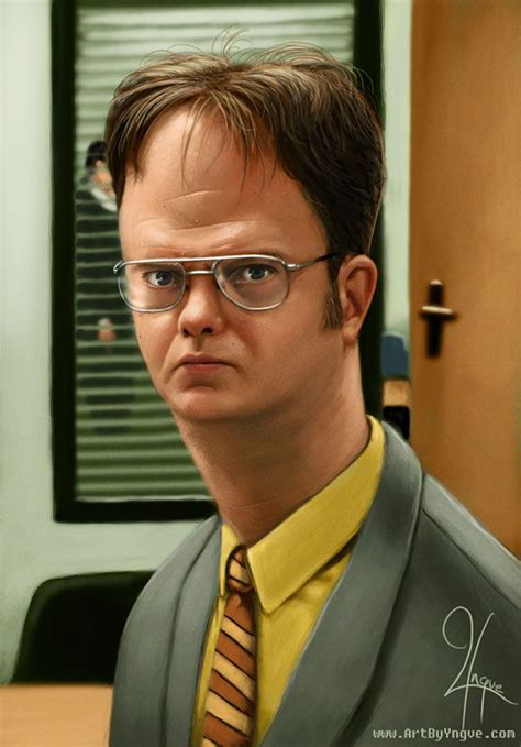 The Office Dwight by Dwight Schrute Caricatures