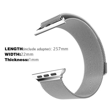 Luxury Milanese Stainless Steel Watchband For Apple Wat Diskon 1 milanese watchband untuk apple 42mm series 1 2 3