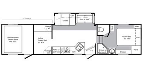 raptor floor plans specs for 2008 toy hauler keystone raptor rvs rvusa com